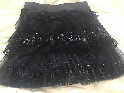 Girls Black Sequined Skirt Size 10/12