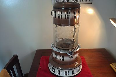 Vintage Modle 750/ Perfection Kero Heater With Glass Pyrex Globe