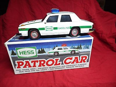 Hess 1993 Patrol Car~Case Fresh New In Box~Police Car With Sirens And Lights