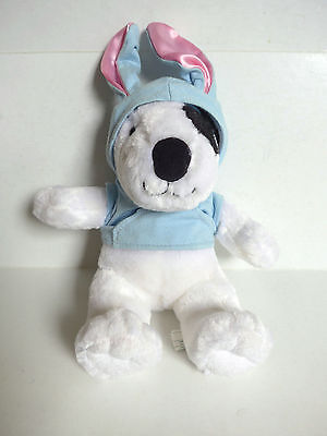 Aurora Plush Bunny Dog Max White Bull Terrier Hip Hop Easter Holiday Hoodie