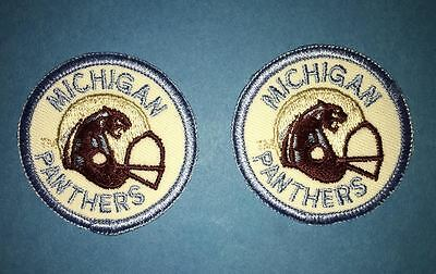 2 Lot Rare Vintage 1983 USFL Michigan Panthers Football Jacket Hat Patches B