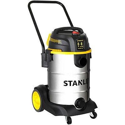 8 Gallon Wet Dry Shop Vacuum Vac 6 HP Stainless Steel Wheels Home Contractors