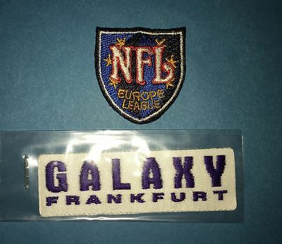 2 Lot NFL Europe Frankfurt Galaxy Football Hat Jacket Patches Crests