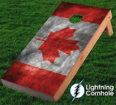 Canadian Flag Cornhole Board Wrap Set