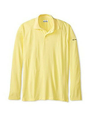 Columbia Mens Bunker Basin Long Sleeve Athletic Polo