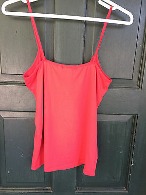 womens chemise camisole red MNG BASICS sz M polyester blend sleeveless tank top