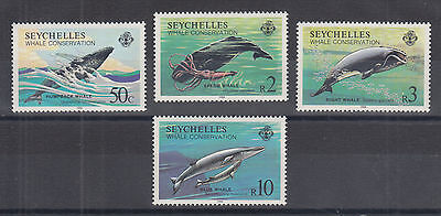 Seychelles Sc 555-558 MNH. 1984 Whale Conservation, complete, VF