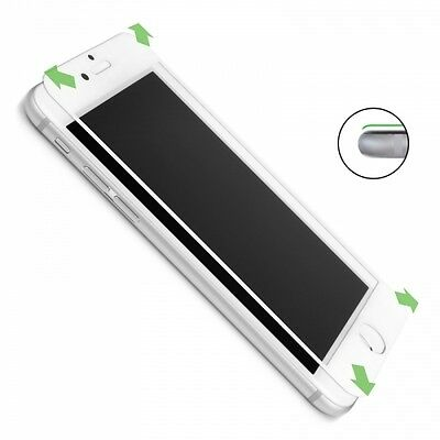 New WHITE Full TPU Coverage Tempered Glass Screen Protector For iPhone 6S PLUS