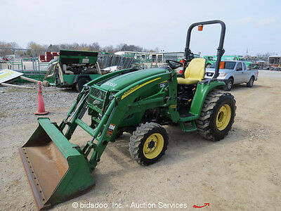2011 John Deere 3320 4WD Tractor 300CX Loader PTO 3-Point Hitch Diesel bidadoo