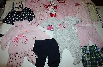 Lot of 19 Pcs Baby-Girl  0-3 Months .