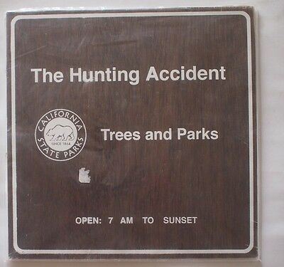 """The Hunting Accident Trees & Parks 2012 10"""" LP EP Actual Wood Cover"""