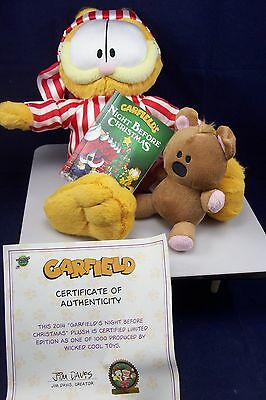 Rare Garfield's Night Before Christmas 2014 Limited Edition Plush Of 1000 New