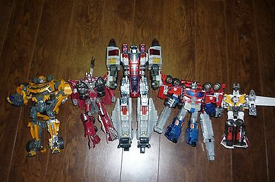 Transformers Lot Of 5 Loose For Parts Ultimate Bumblebee Sentinel Prime Optimus