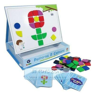 Inakids Educational Kids Magnetic Games Patterns & Colors Shapes Learning Toy