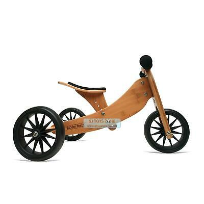 Kinderfeets Tiny Tot 2-in-1 Kids Bamboo Toy Outdoor Balance Bike Trike