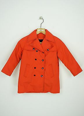 VINTAGE KIDS 1970's TRENCH COAT  with LINER size 7