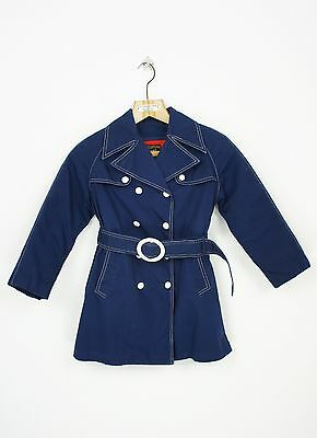 VINTAGE KIDS 1970's TRENCH COAT  with LINER and BELT size 8