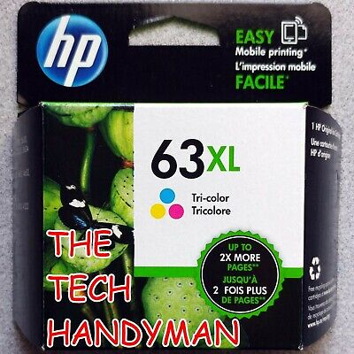 HP GENUINE 63XL Tri-Color Ink (RETAIL BOX) for the OFFICEJET 4650 4652 4654 4655