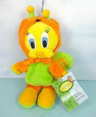 Looney Tunes TWEETY as an ORANGE BUTTERFLY Beanbag Doll WB STORE