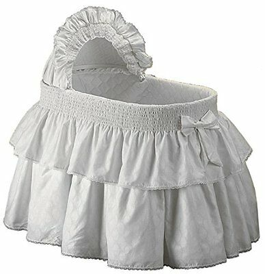 Baby Doll Bedding Neutral Paradise Bassinet Bedding Set for boy and girly, White