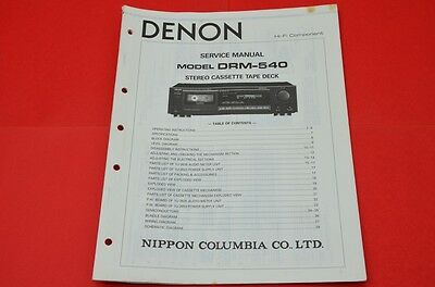 Original Service Manual Denon DRM-540 Cassette Recorder  /  English Language!