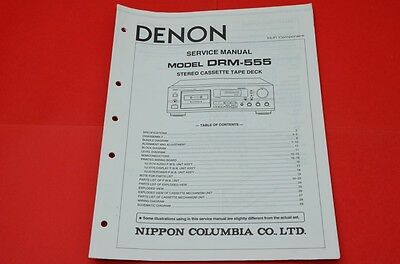 Original Service Manual Denon DRM-555 Cassette Recorder  /  English Language!