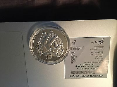 2014 Ice Hockey Championship Minsk Arena Belarus 20 Rubles World Silver Coin