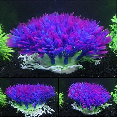 New Purple Aquarium Fish Tank Decoration Underwater Water Plant Ornament Decor