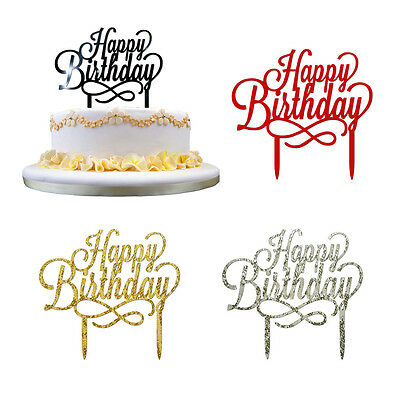 New Happy Birthday Cake Topper card Anniversary Birthday Party Cake Decoration