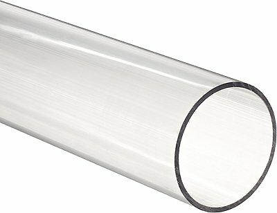 "Clear Polycarbonate Tubing, 5/8"" ID, 3/4"" OD, 1/16"" Wall, 3 Length"