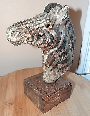Safari Zebra Head Figurine Collectible Decor Resin 9.5x8x4""