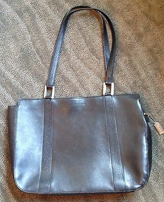 Coach Black Leather Laptop Case Briefcase