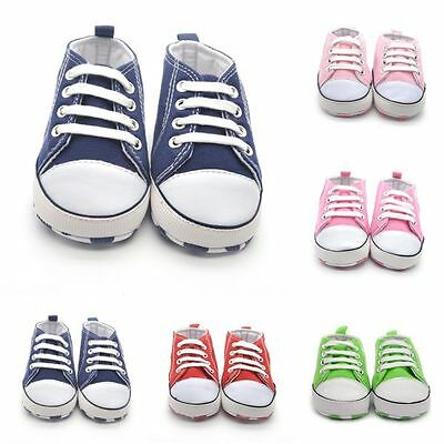 0-18M Newborn Baby Boys Girls Casual Soft Sole Sneakers Crib Shoes Prewalkers