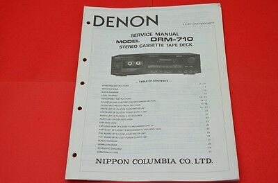 Original Service Manual Denon DRM-710 Cassette Recorder / English Language!