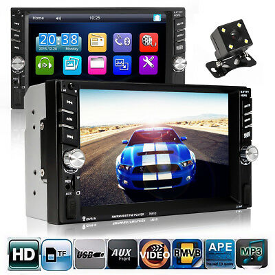 7'' TFT HD Touch Screen 2 DIN Car MP3 MP5 Player Bluetooth Gps Stereo FM Radio