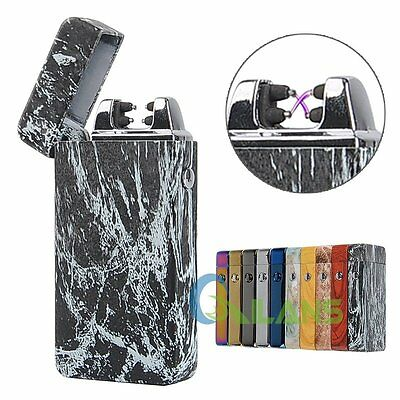 USB Rechargeable Electric Lighter Dual ARC Pulse Flameless Plasma Torch Gift【AU】