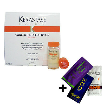 KERASTASE Fusio-Dose Concentre Oleo-Fusion Treatment - 3, 5 or 10x12ml + GIFT