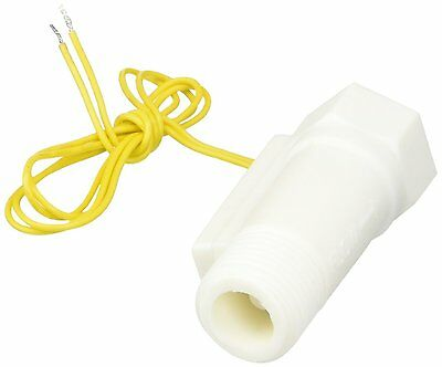 White Plastic Shell Magnetic Water Flow Switch w Inner Outer Thread