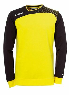 Kempa Kids Emotion Training Sports Long Sleeve Top Sweatshirt Junior Yellow ...