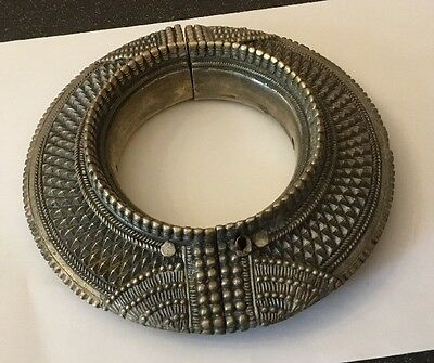 Antique Large African Arabian Omani Slave Anklet Ankle Bangle Manilla