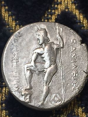 300 BC Ancient Greek Roman Silver Coin Amphipolis Demetrios Tetradrachm  2 coins