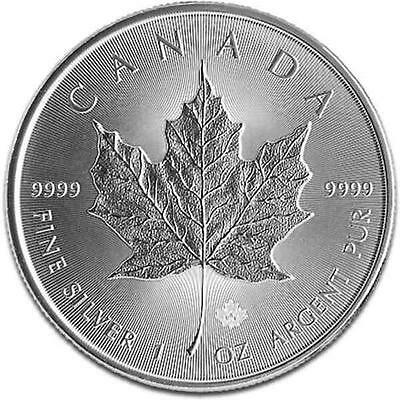 New 2014 Canadian Silver Maple Leaf 1oz .9999 Pure Silver Bullion Coin