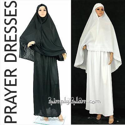 Womens Islamic Prayer Dress Ahram Hajj and Hijab Khimar scarf Niqab Nikaab