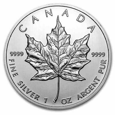 New 2012 Canadian Silver Maple Leaf 1oz .9999 Pure Silver Bullion Coin