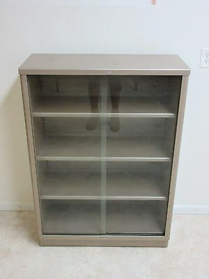 Vintage Steel Case Industrial Bookcase Shelf Library Hutch