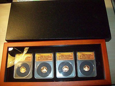 2009 1C Lincoln Cent 4-Coin Proof Set First Day Of Issue Pr70 Dcam #1565 Anacs