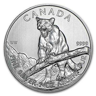 New 2012 Canadian Silver Cougar 1oz .9999 Pure Silver Bullion Coin