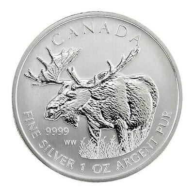 New 2012 Canadian Silver Moose 1oz .9999 Pure Silver Bullion Coin