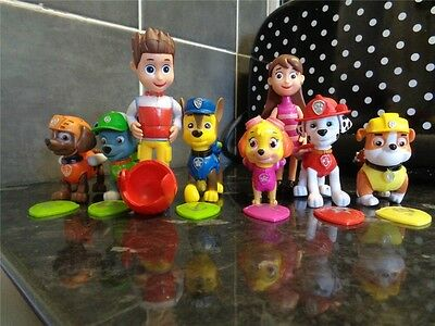 8pcs Paw Patrol Cake Topper Figures Pup Ryder Marshall Rubble Chase Skye UK
