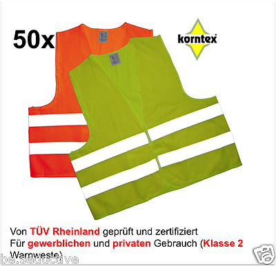50 Warning vest orange Break-down crew Safety ISO20471:2013 Car